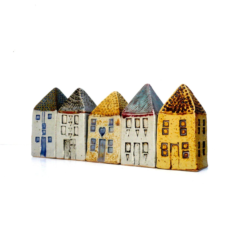 Miniature houses architecture ceramic sculpture buildings for Miniature architecture