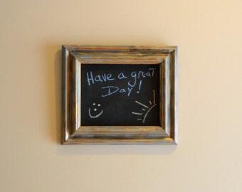 Framed Chalkboard - Chalk Board Sign Chalkboard - Restaurant Sign Kitchen Sign Menu Board - Distressed Frame Custom Frame