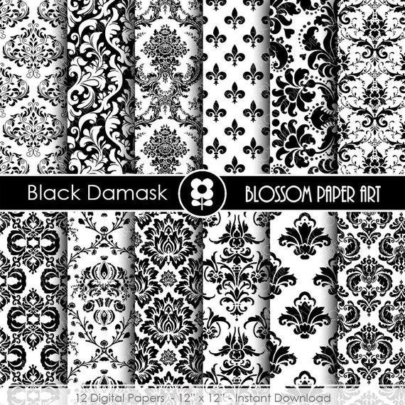 Papeles Decorativos Negro Papel Decorado para por blossompaperart