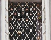 Ornamental bells photos, Prague travel photos, prague architecture wall art, windows, decorative bells, vintage photograph, gift under 50