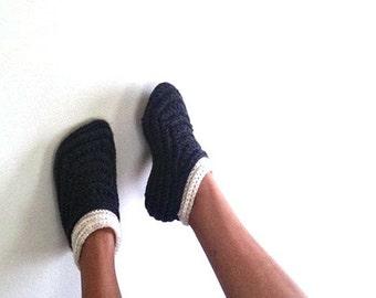 Crochet Moccasin slippers for women, Crochet slipper boots, Women's house shoes