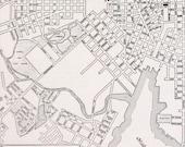 Baltimore Vtg Map, 1947