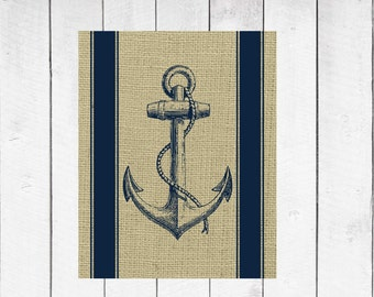 Nautical Decor - Anchor Print- 8x10 INSTANT DOWNLOAD