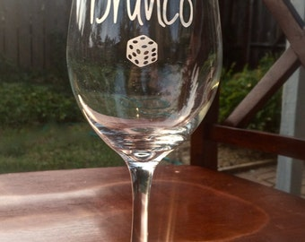 Bunco Drunco Wine Glass,