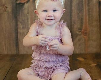 lace romper set..blush romper set..baby girls romper sets..baby girls lace romper set..blush romper... baby girls romper