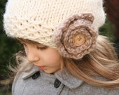 Posey Slouchy Hat - Knitting pattern - Toddler, Child and Adult sizes - pdf format / eBook