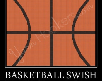 Basketball Swoosh - Afghan Crochet Graph Pattern Chart - Instant Download