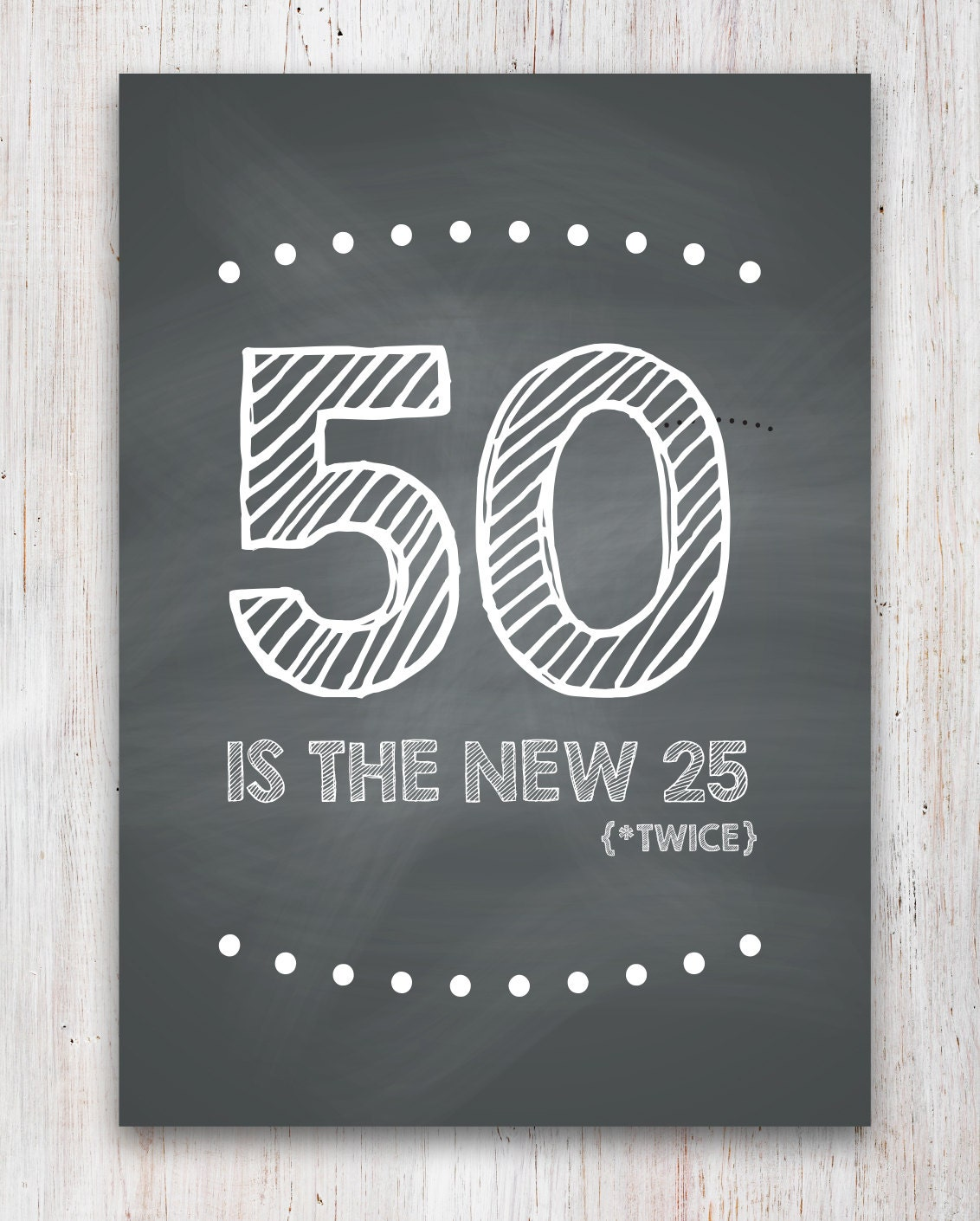 Funny 50th Birthday Card Printable