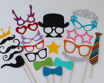 Fun Wedding Photo Booth Props - Normal and Oversized for a Fun and Silly Photo Booth Experience at your next event