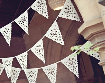 Lace Wedding bunting, perfect venue decoration