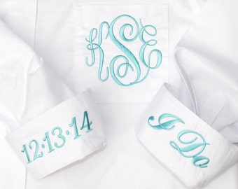Bride Shirt - Personalized Bridal Party Shirt - Monogrammed Button Down Wedding Shirt