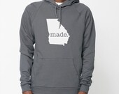 Georgia Roots or Made American Apparel Pullover Hoodie - Unisex Size S M L XL