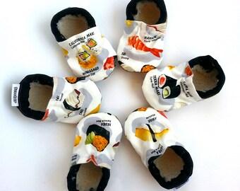 sushi baby shoes sushi booties baby sushi clothing sashimi baby shoes sushi slippers soft sole shoes sushi shoes japanese baby funny gift