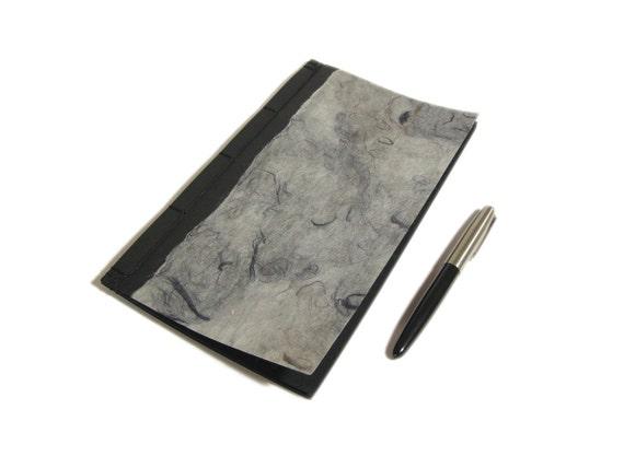 Zen Book. Wabi Sabi Japanese Notebook. Black & Grey Journal with Black Pages. Poetry Journal. Minimal Men's Black Journal. Sketchbook