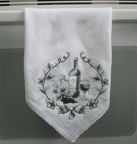 Items Similar To Flour Sack Kitchen Towel. Embroidered