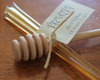Honey Sticks Wedding Favors // Honey Wedding Favors // Love as sweet as honey wedding favors // SET OF 25
