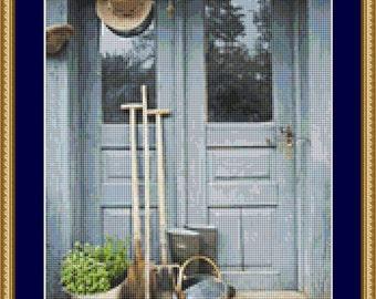 Gardening Tools Cross Stitch Pattern