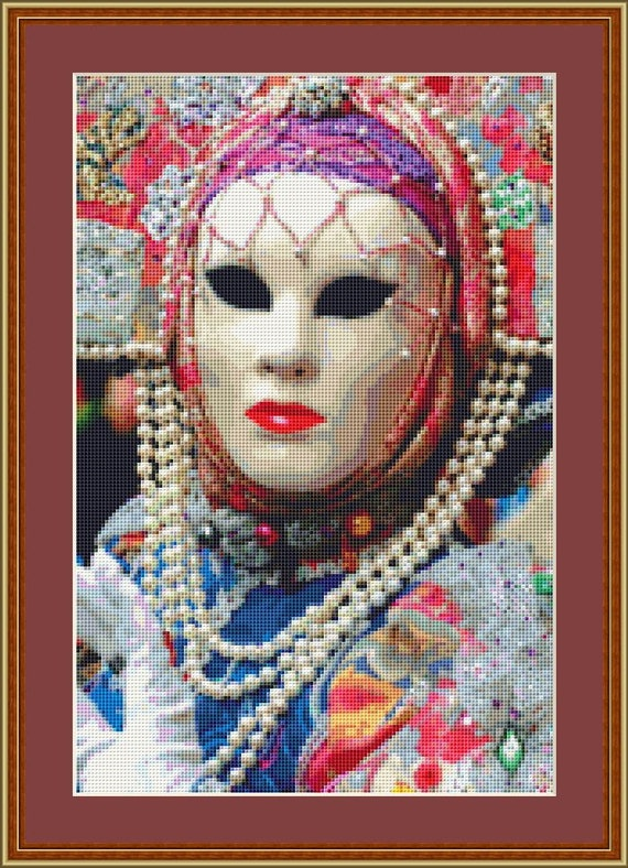 Festival Mask 2 Cross Stitch Pattern