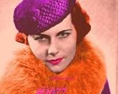 Vintage 1933 Moderne Matador Hat  1077 PDF Digital Crochet Pattern