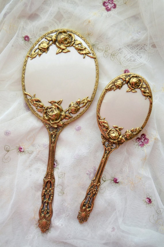 Stunning Vintage Mirror And Brush Set