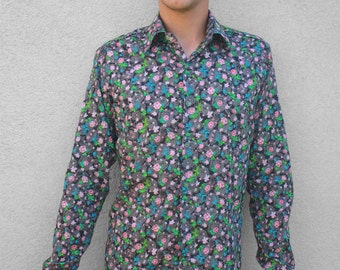 Flowery shirt – Liberty - S size - BAÏSAP