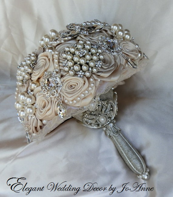 jewled wedding bouquet