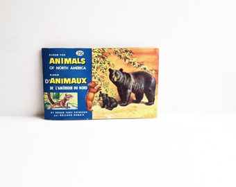 Vintage Animals of North America Complete Collection of Red Rose Tea Cards in Original Album / Instant Collection / Brooke Bond Canada