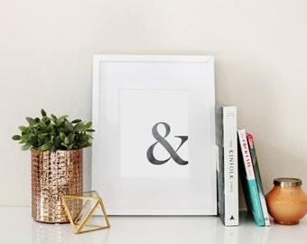 Modern Ampersand Printed Wall Art
