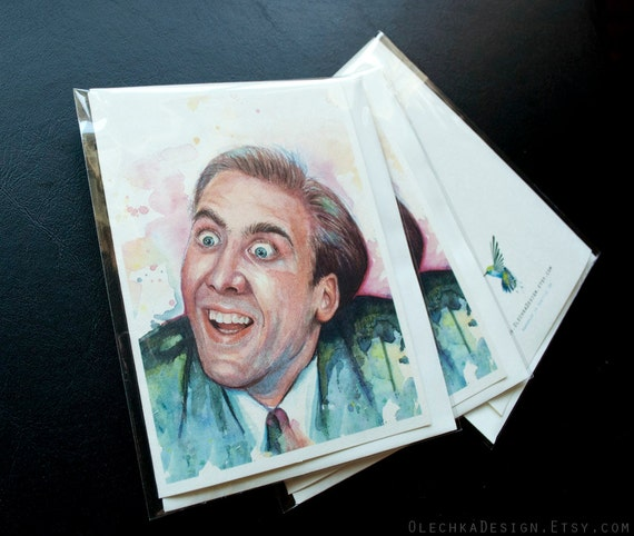 Nicolas Cage You Don't Say Meme Blank Folded by OlechkaDesign