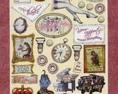 Women & Friends STICKERS - Vintage Stickers - Scrapbook Stickers - Victorian Stickers