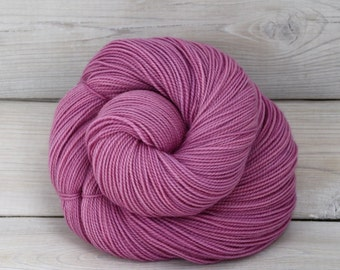 Celeste - Hand Dyed Superwash Merino Fingering Sock Yarn - Colorway: Radiant Orchid