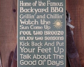 Welcome Sign, Backyard Decor,  Welcome To Our Deck, Deck Decor, Deck Signs, Rules Sign, Deck Word Art, Wood Signs