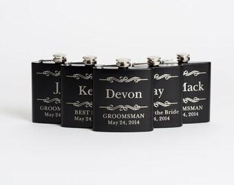 Groomsmen Gift, Personalized Groomsmen Gifts, Engraved Flasks, Custom Engraved Best Man Gift, Flasks