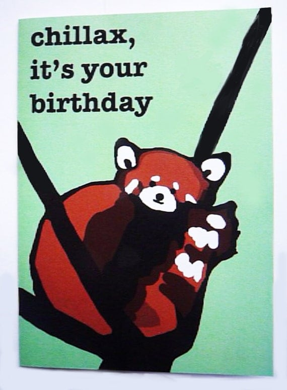 Red panda birthday