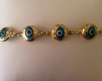Classic Gold Evil Eye Bracelet