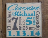 Personalized Baby's Birth Information Nursery Art Decor for Baby Custom Wood Sign Child