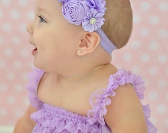 Lavender Baby Headband, Infant Headband, Newborn Headband, Baby Headband, Purple Headband, Toddler Headband, Pastel Headband
