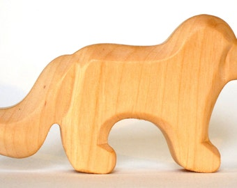 Wooden Dog, Animals of the Farm, Wooden Waldorf Toy
