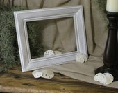 Wood Beach Frame, Beach Frame, Distressed Frame, Shabby Decor, Beach Wedding Frame, Photo Frame, Rustic Decor, Whitewashed Frame
