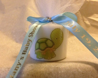 25 Baby Shower Favors, Turtle Themed Shower, Its a Girl Favors,Its a boy, Bridal Shower, Baptism , Holy Communition Favors