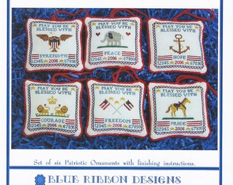 Patriotic Wishes Volume 1 (BRD-033) Cross Stitch Design