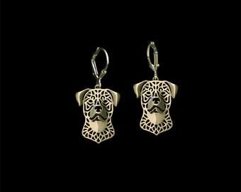 Rottweiler earrings - Gold