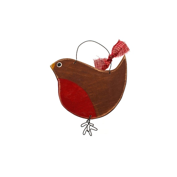 Christmas Decorations Red Birds : Christmas decorations red robin bird country by suzannelake