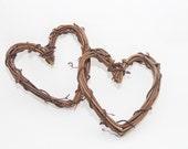 Rustic Mini Heart - Embellishments for Wedding Cake Topper - Grapevine - Garland
