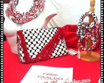BAG pouch KUFFIEH style Keffiyeh HANDBAG keffiyeh Palestine