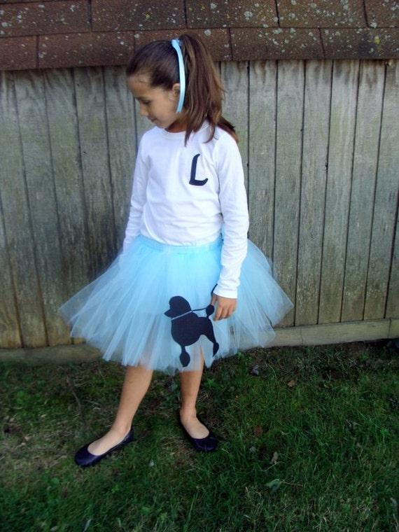 items similar to blue poodle skirt sewn tutu costume 50