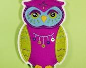 Cecil the Owl Felt Ornament Pattern PDF