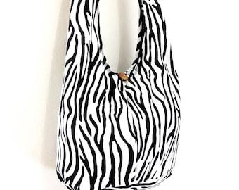 Women bag Handbags Cotton bag Hippie bag Hobo bag Boho bag Shoulder bag Sling bag Messenger bag Tote bag Crossbody bag Purse Black&White