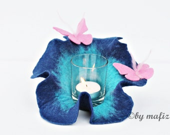 light light lamp for terrace balcony for apartment felt blossom candle light candle holder for garden party