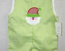 291920  Christmas Jon Jon - Baby Clothes - Baby Boy Christmas Outfit - Infant Twin Cloth Outfits - Twin Clothing Baby - First Christmas